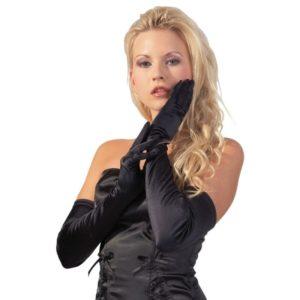 Handschuhe aus Stretch-Satin