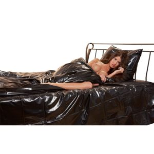 Bettdeckenbezug aus Lack mit Einschubschlitz