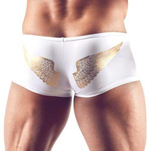 Pants mit Reißverschluss und Engelsflügel-Print