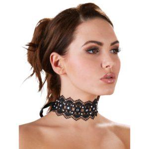 Halsband mit Stickerei