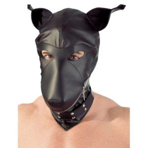 Maske »Dog Mask« aus Lederimitat mit Reißverschluss